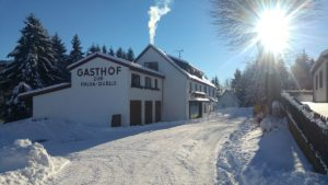 Genussgasthof Fuldaquelle im Winter